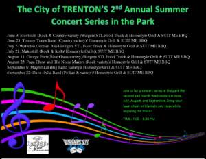 Summer Concerts in the Park are Back!!!